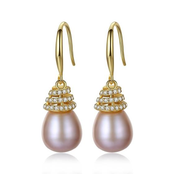 Luxury 10-11mm Freshwater Pearl Earrings , 925 Sterling Silver Classic Jewelry Earrings For Women