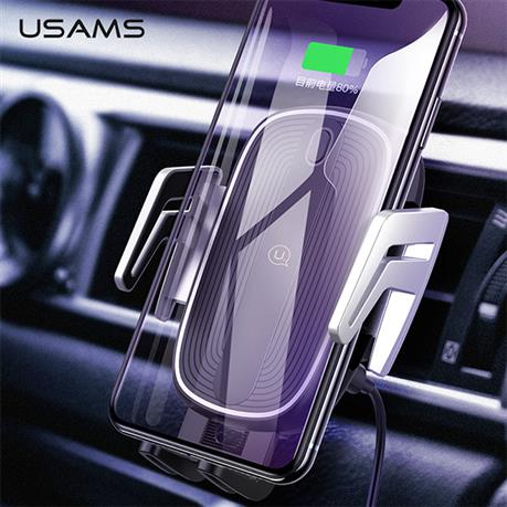 USAMS Luxury Magnetic Car Phone Holder Wireless Charger Car Air Vent Holder, 10W Fast Charge car holder for iPhoneX Samsung s9