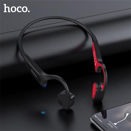 HOCO Bone Conduction Bluetooth Wireless Earphone, Stereo Headset Sports Headphone Titanium Waterproof earphone Running Driving