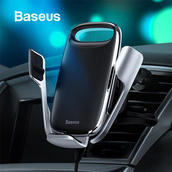 Baseus 15W Qi Wireless Charging Air Vent Mount Car Phone Holder for iPhone , Samsung QC 3.0 Wireless Charger Mobile Holder Stand