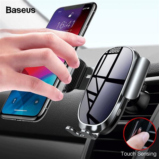 Baseus Intelligent Sensing Car Phone Holder Gravity Air Vent Car Mount Holder Mobile Phone Stand, Touch Inductive Button