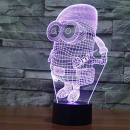 Creative lamp desk light Cartoon Despicable Me Minions 3D colorful LED Christmas Gift