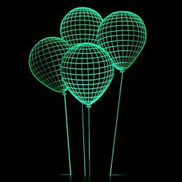 USB Led Night Lamp 3D LED Night light Balloons table lamp illusion Decoration children lamp