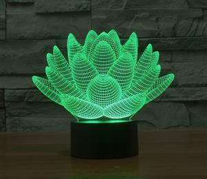 Lotus 3D colorful night light strange stereoscopic visual illusion lamp LED lamp Decor light