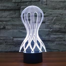 Stunning 3D Illusion Lamp Jellyfish LED Night Light USB lamp Home Bedroom Decor
