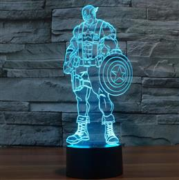 Night Light 3D Captain America Colourful Lamp Night Lights Decorative lighting gift for kids