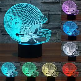3d Lamp LED Tennessee Titans Team Neon Light Signs 3D Football Helmet La...
