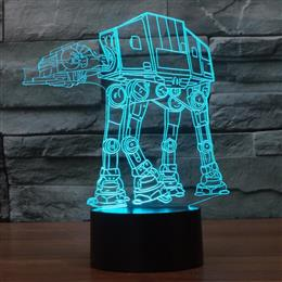 Creative 3D Night Light AT-AT Transport machine dog Star Wars Illusion Light Table Lamp