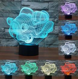 Acrylic light 3D light USB Table Lamp Night Light Cartoon Car Toys USB D...