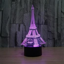 3D illusion eiffel tower table decorations LED desk lamp home decoration gift