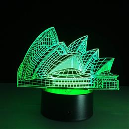 Creative Gifts Sydney Opera House 3D Lamp Baby Sleeping Night Light