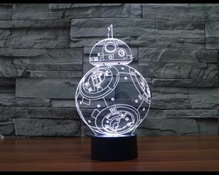 3D Visual Nightlight Creative Star Wars LED Lamp for Kids Acrylic Table Lamp