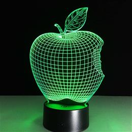 Color Changing USB lamp night light colorful Apple LED 3D Visual Led Novelty Lighting