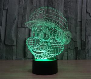 Super Mario Acrylic Colorful 3D Led night light christmas mood lamp Decorative lighting