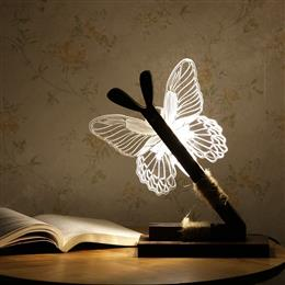 Creative 3D Butterfly bedroom LED night light dimmable light desk lamp  reading lamp USB