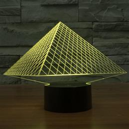 Pyramid 3D lamp LED acrylic light gradient Nightlight LED Lamp Table Lam...