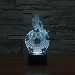 Thinking Football 3D Night Light USB Lighting Baby Room Novelty Gifts 7 Colors Change light