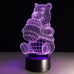 Winnie the Pooh Colorful 3D Lights Acrylic LED Night Light Nightlight Mood Lamp