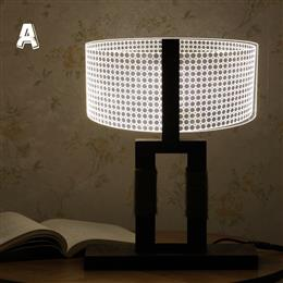 Creative 3D Light 6 LED night light wood bottom ABS dimmable lighting table desk lamp reading lamp