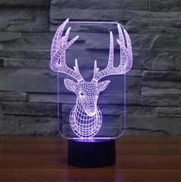 Novelty 3d bulbing licht speelgoed Sika Deer LED night light Bedside table lamp