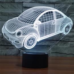 Luxury Car 3D Visual Led NightLights for Kids Table Acrylic Colorful Atm...
