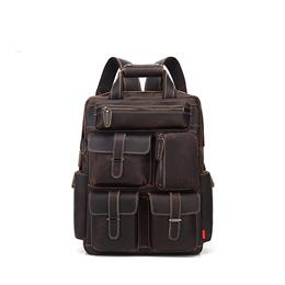 Men's Backpack Retro Genuine Leather Backpack Multi Pocket waterproof Travelling Large Capacity Back bag Mochila Masculina