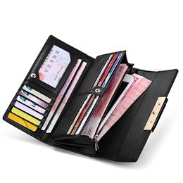 Hot Sale Fashion Split Leather Long Fashion Wallet Women Wallets Designe...