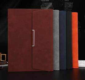 New pu leather notebook A5 three-fold loose-leaf notebook set