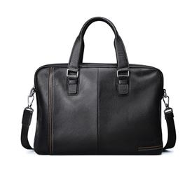 Business Men's Briefcase Genuine Cow Leather Luxury Top-Handle Bag f...