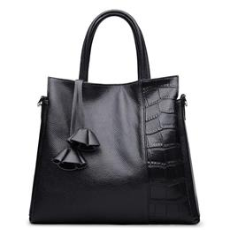 Women Famous Brands Elegant Capacity OL Stylish Genuine Leather Bag