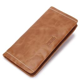 Genuine Leather Men Wallets Fashion Long Minimalist Wallet For Man Zipper Around Male Clutch Purse