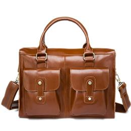 Business Men Briefcase Leather Laptop Bag Male Genuine Leather Men Bag Work Bags Men Shoulder Bags Casual Handbags Totes