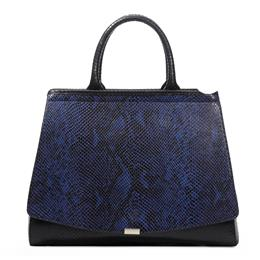 Elegant Python Pattern Blue Hand Bag High Quality Luxury Party Handbag