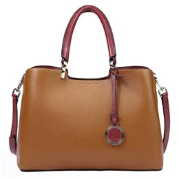 Vogue Genuine Leather Women Bag Brown Design Famous Brand Quality Leather Handbags