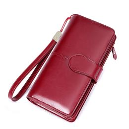 Hot Sale Women Clutch New Wallet Split Leather Wallet Female Long Wallet Women Zipper Purse