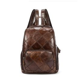 Women Backpack Fashion Leather Backpacks for Teenage Girls School Bag Plaid Female Shoulder Bag Lady Travel Laptop Backpack