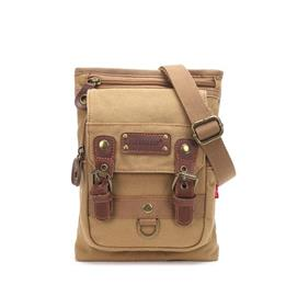 New Male Small Canvas Crossbody Bag Multifunction Work Tool Bag