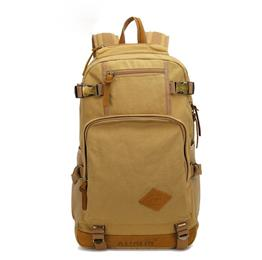 Men Backpacks Vintage Canvas Leather Men's Backpack Larger Capacity Travel Bags For Men Male Schoolbag 14 inch Laptop Bag