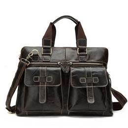 Business Men Briefcase Handbags Genuine Leather Men Bag Messenger Bags Shoulder Crossbody Bags Leather Laptop Bag Male