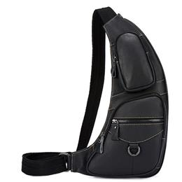 Genuine Leather Men Chest Bag Messenger Bag Leather Men Belt Waist Bags Shoulder Crossbody Bags For Man Waist Pack