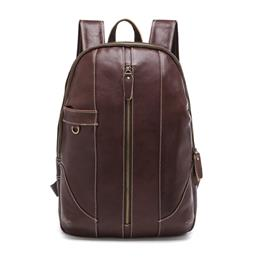 Genuine Leather Backpacks Men Shoulder Bag Men Bag Leather Laptop Bag 15 inch Men's Luggage Travel Bags School Backpack