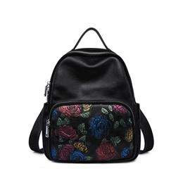 Special Embossing Genuine Leather Bagpack Women Leather Backpack Women Backpacks