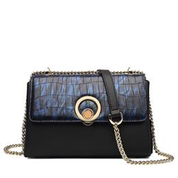 Girl Stone Pattern High Quality Women Leather Messenger Bags Cowhide Toteh