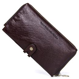 Men's Purses Genuine Leather Men Business Wallets With Passport Pocket Card Holder Purse High Quality