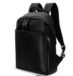 Genuine Leather Backpack For Man Real Cowhide Large Male Backpack Double Zipper Travel Rucksack Classic Unisex Black Bag