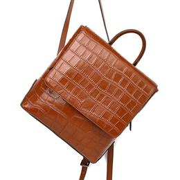 Brown Hot Real Genuine Leather Women Backpacks Fashion Alligator Bag Backpack Purse