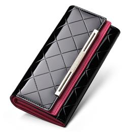 Wallet Luxury Wallet Female Patent Leather Clutch Lady Party Purse