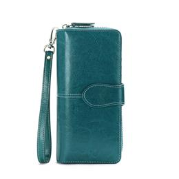 Quality Clutch Fashion New Wallet Split Leather Wallet Female Long Wallet Women Zipper Purse