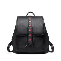 Genuine Leather Backpacks Woman Backpack Brand Fashion Diamond Pattern School Bags