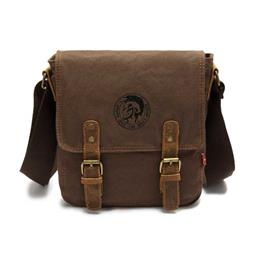 Fashion Men Shoulder Bag Vintage Canvas Shoulder Bags Travel Satchel Ba...
